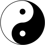 Tai Chi oder Yin-Yang-Symbol